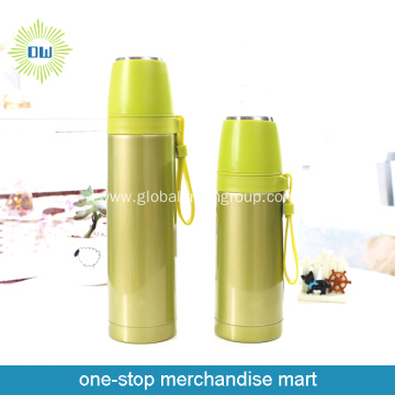 Green Thermos Bottle Portable